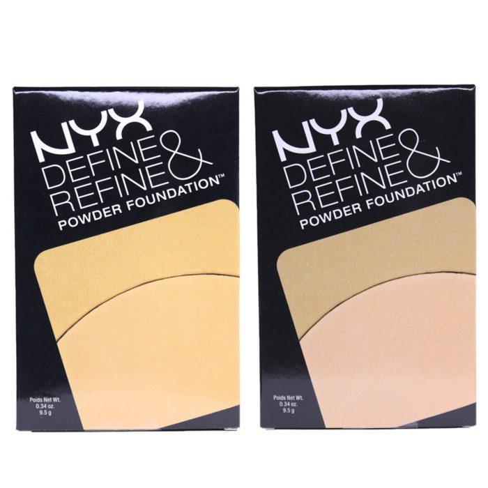 NYX Define & Refine Powder Foundation 2 Shades Assorted