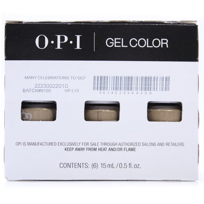 The mastercase of a OPI Gel Color Nail Polish Many Celebrations To Go! lot